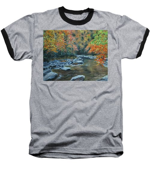 Smokey Mountain Autumn Baseball T-Shirt