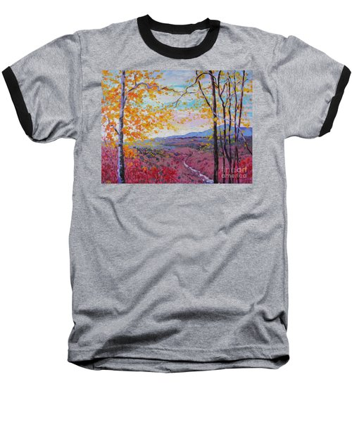 Smokey View Morning Baseball T-Shirt