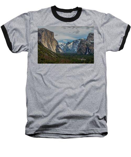 Smokey Yosemite Valley Baseball T-Shirt
