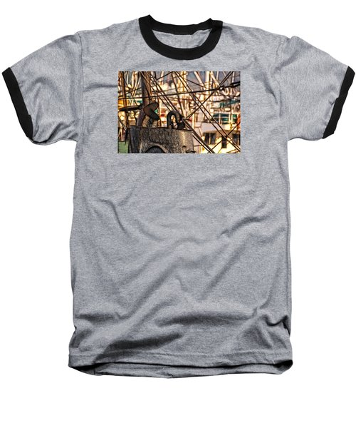 Baseball T-Shirt featuring the photograph Smokin' by Cameron Wood