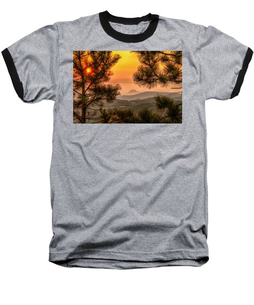Smoky Black Hills Sunrise Baseball T-Shirt