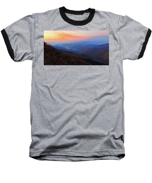 Dawn From Standing Indian Mountain Baseball T-Shirt by Daniel Reed