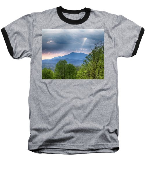 Baseball T-Shirt featuring the photograph Smoky Mountain Light by Alan Raasch