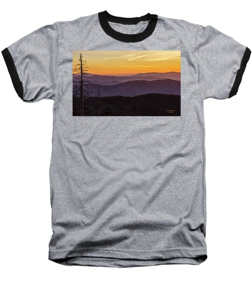 Smoky Mountain Morning Baseball T-Shirt