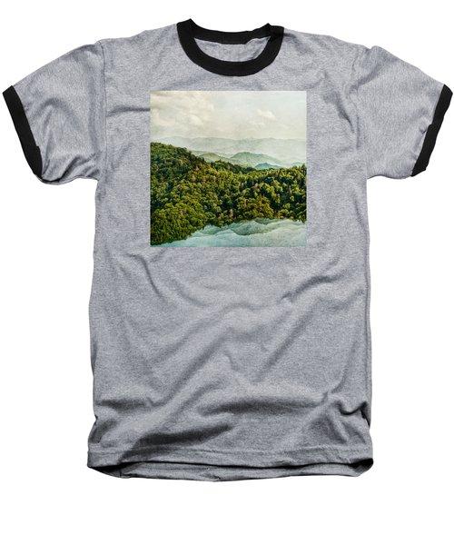 Smoky Mountain Reflections Baseball T-Shirt