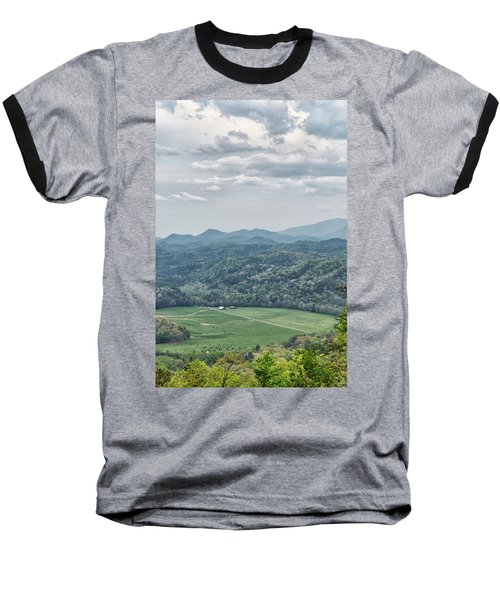 Smoky Mountain Scenic View Baseball T-Shirt