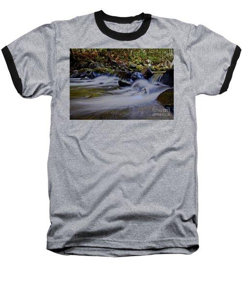 Baseball T-Shirt featuring the photograph Smoky Mountain Stream by Douglas Stucky