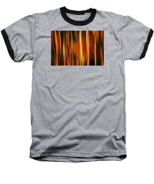 Smoky Mountains Fall Colors Digital Abstracts Motion Blur Baseball T-Shirt by Rich Franco