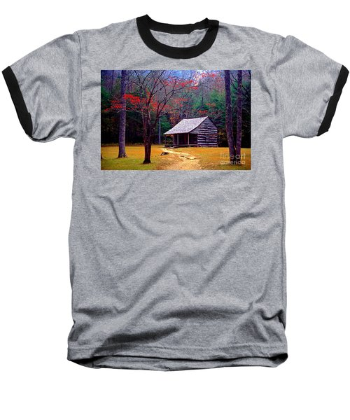 Smoky Mtn. Cabin Baseball T-Shirt by Paul W Faust -  Impressions of Light