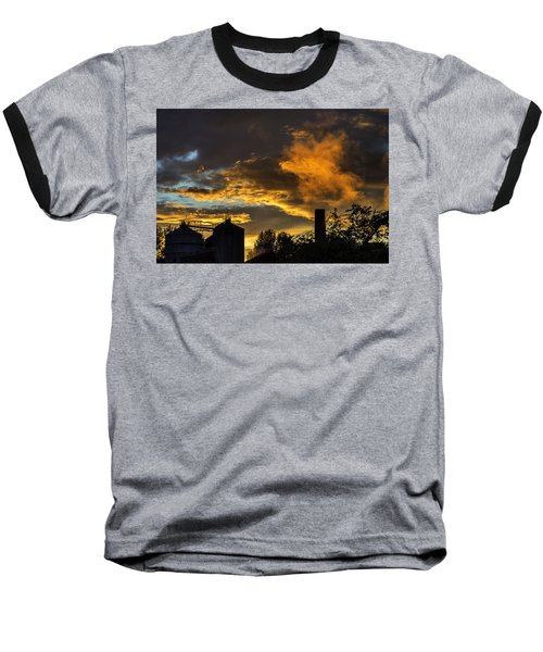 Baseball T-Shirt featuring the photograph Smoky Sunset by Jeremy Lavender Photography
