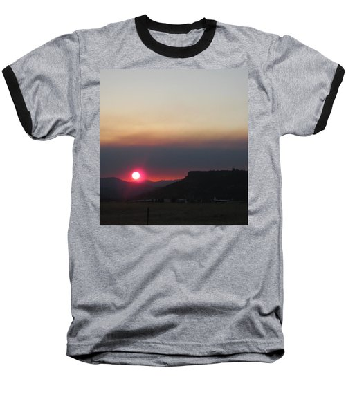 Baseball T-Shirt featuring the photograph Smoky Sunset Near Table Rock by Marie Neder