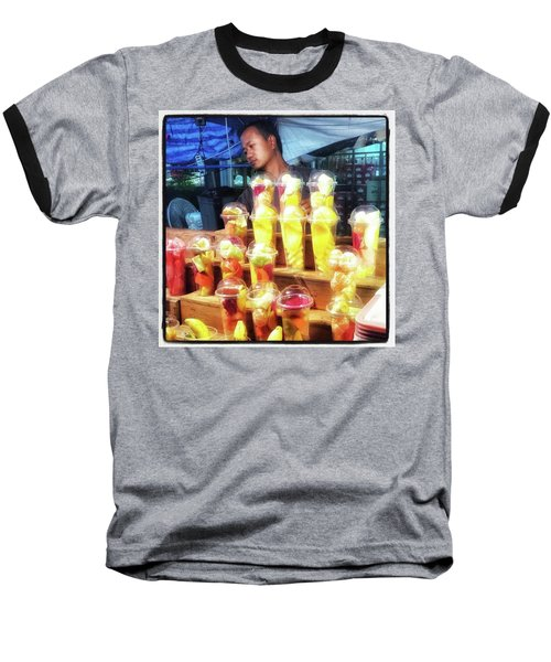 Baseball T-Shirt featuring the photograph Smoothie Nirvana. Choose A Cup Of by Mr Photojimsf