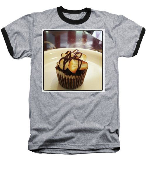 Baseball T-Shirt featuring the photograph smore Miniature Cupcake N Coffee by Mr Photojimsf