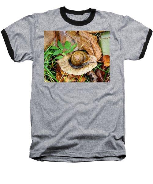 Snail Home Baseball T-Shirt