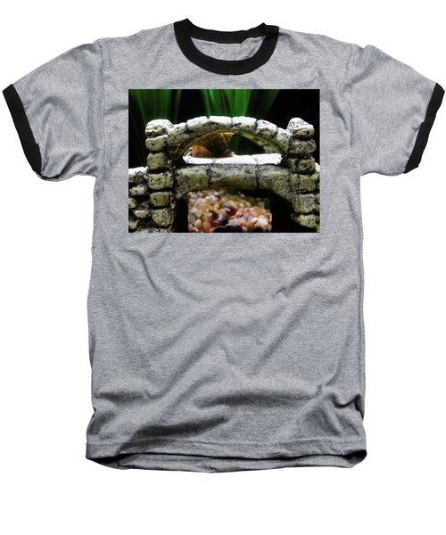 Baseball T-Shirt featuring the photograph Snail Over A Bridge by Robert Knight