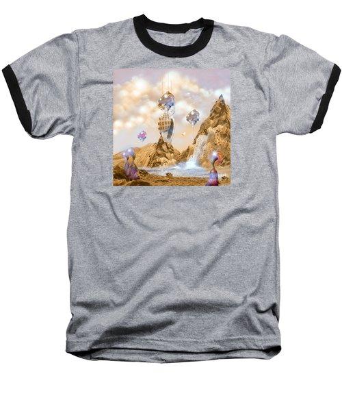 Snail Shell City Baseball T-Shirt by Alexa Szlavics