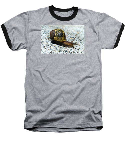 Baseball T-Shirt featuring the photograph Snailing Alone 01 by Kevin Chippindall