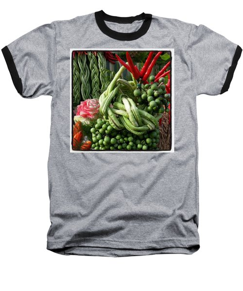 Baseball T-Shirt featuring the photograph Snake Beans. At The Surin Elephant by Mr Photojimsf