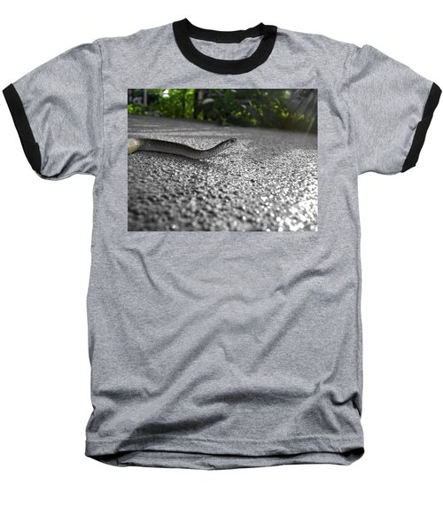 Snake In The Sun Baseball T-Shirt