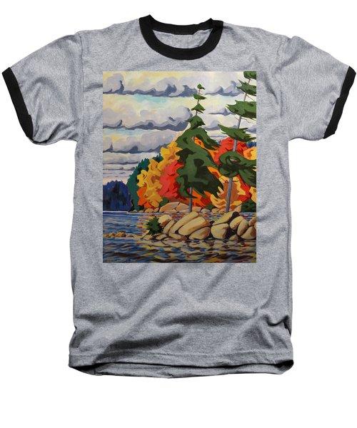 Snake Island In Fall-close Baseball T-Shirt by David Gilmore