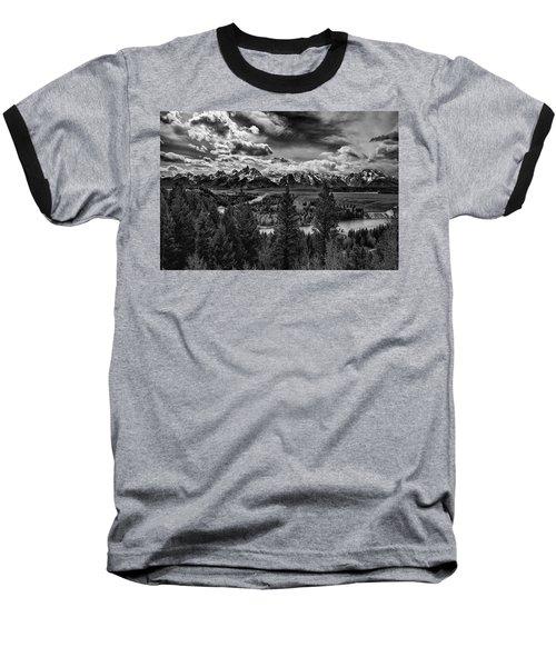 Snake River And Tetons Baseball T-Shirt