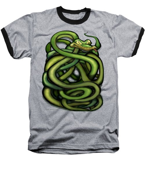 Snakes Baseball T-Shirt by Kevin Middleton