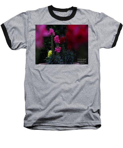 Baseball T-Shirt featuring the photograph Snapdragon by Greg Patzer