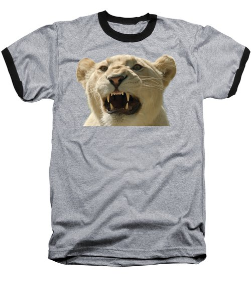 Snarling Lion Baseball T-Shirt