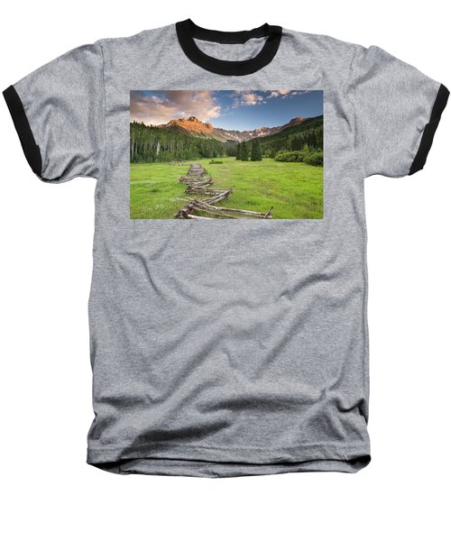 Sneffels Fence Horizontal Baseball T-Shirt