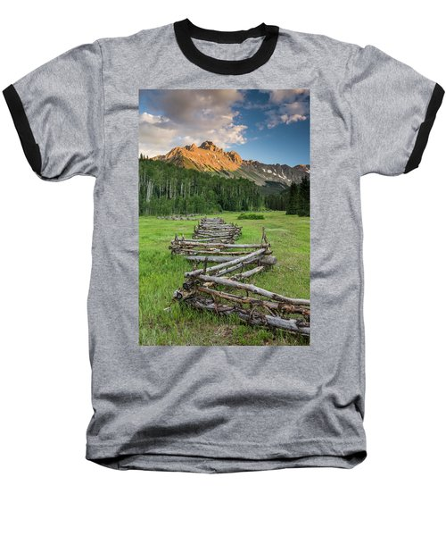 Sneffels Fence Vertical Baseball T-Shirt