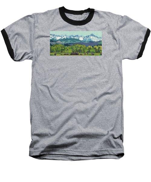 Sneffels Range Spring Baseball T-Shirt by Dan Miller