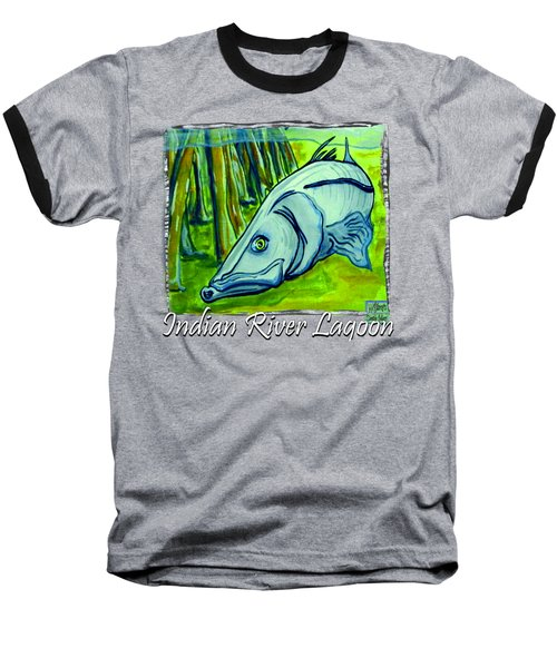 Snook Fish Baseball T-Shirt by W Gilroy