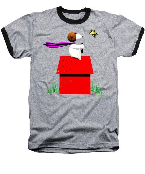 Snoopy Evades The Red Baron Baseball T-Shirt