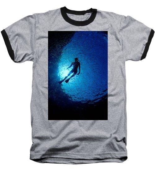 Snorkeler Baseball T-Shirt