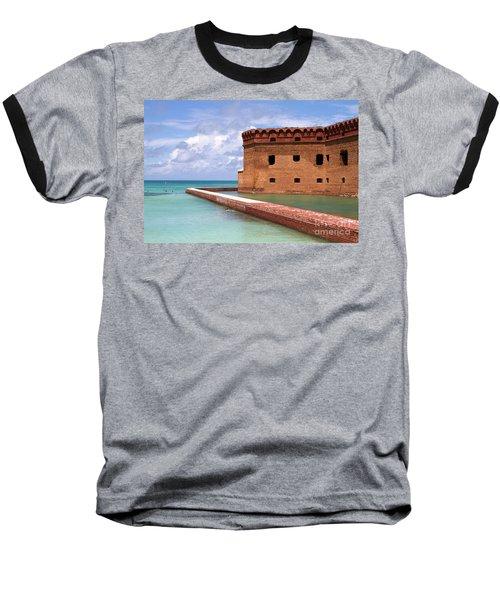 Snorkelers Fort Jefferson Baseball T-Shirt