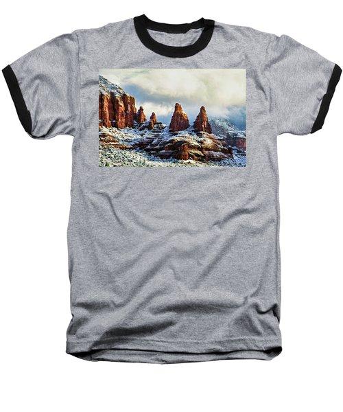 Snow 04-002 Baseball T-Shirt by Scott McAllister