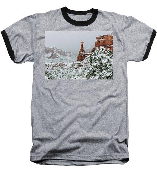 Snow 06-027 Baseball T-Shirt by Scott McAllister