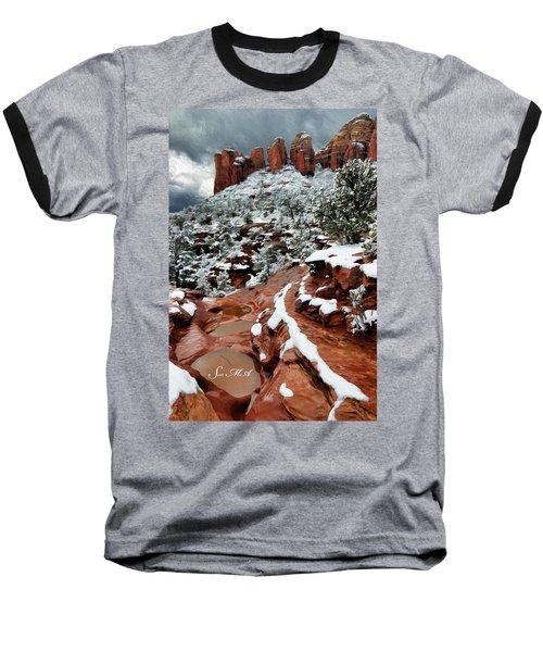 Snow 06-068 Baseball T-Shirt by Scott McAllister