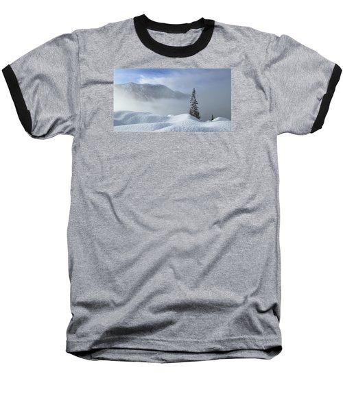 Snow And Silence Baseball T-Shirt by Lynn Hopwood