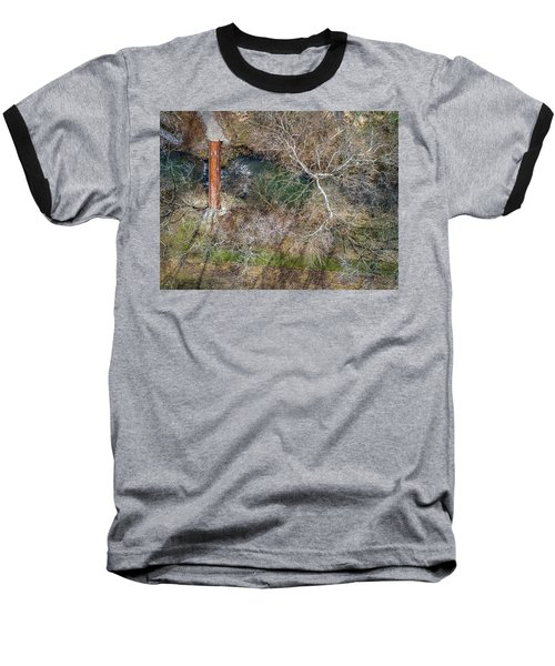 Snow Around The Creek Baseball T-Shirt