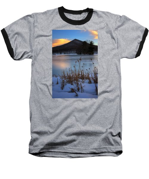 Snow At The Peaks Baseball T-Shirt