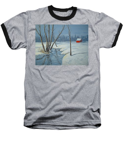 Snow Barn Baseball T-Shirt