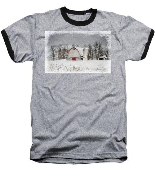 Snow Barn Baseball T-Shirt