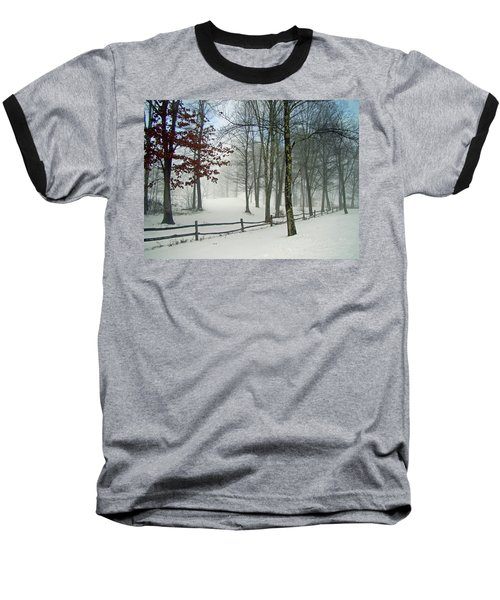 Snow Begins Baseball T-Shirt