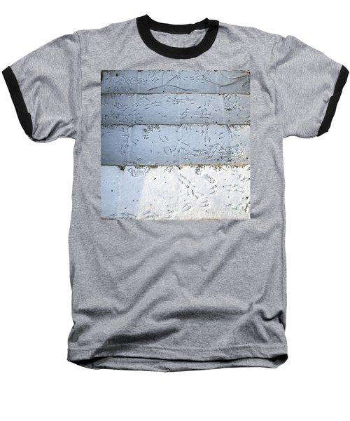 Snow Bird Tracks Baseball T-Shirt