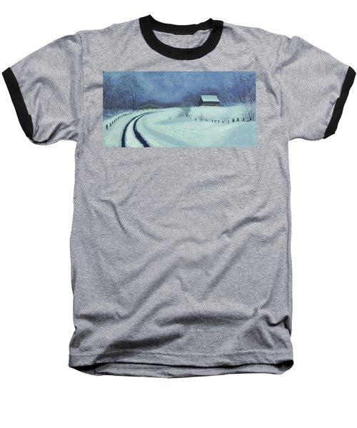 Snow Bound Baseball T-Shirt by Garry McMichael