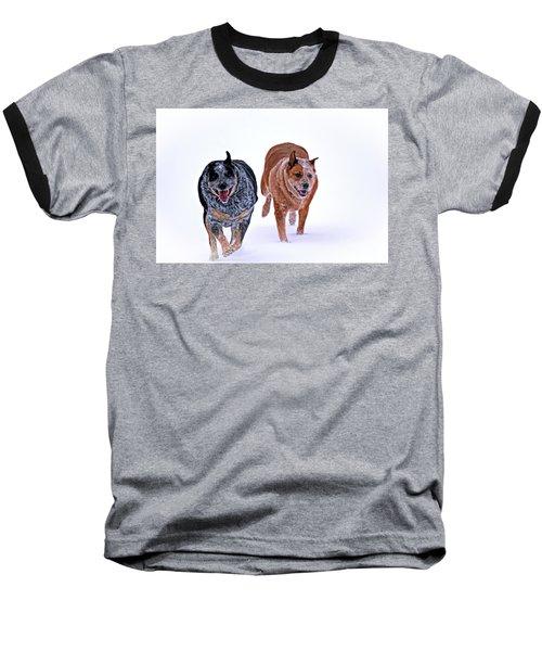 Snow Buddies Baseball T-Shirt by Elizabeth Winter