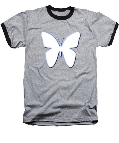 Snow Butterfly Baseball T-Shirt