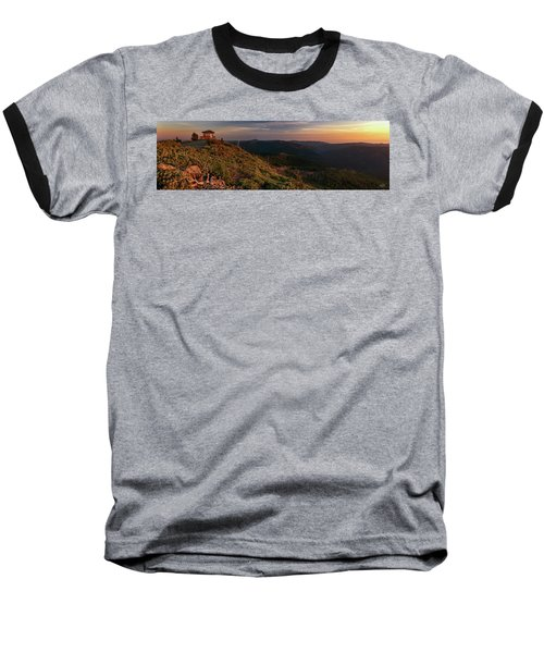Baseball T-Shirt featuring the photograph Snow Camp Lookout by Leland D Howard