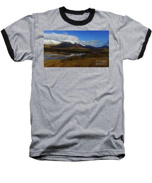 Snow Cap Mountains Baseball T-Shirt